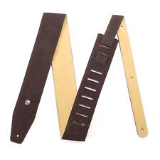 "Jim Dunlop BMFS02 BMF 2.5"" Soft Suede Leather Premium Guitar Strap - Mahogany"