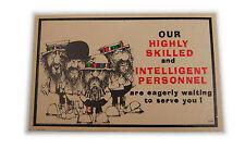Vtg 1960's Customer Service Satirical Postcard