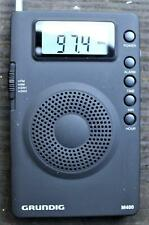 Grundig Mini 400 M400 Compact AM / FM Shortwave Travel Radio,Case,Earphones,Fine