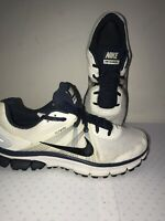 MEN NIKE AIR ICARUS+ FLYWIRE WHITE/BLUE RUNNING  ATHLETIC SHOES SIZE 10.5.    1C