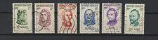 FRANCE 1956 personnages étrangers complète 6 timbres oblitérés /T1904