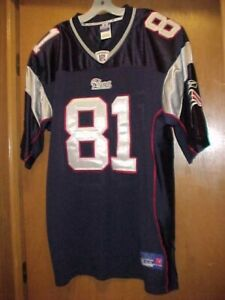 NEW AUTHENTIC Randy Moss #81 SEWN New England Patriots HOME Jersey Reebok Siz 54