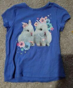 Kids Bunny Shirt Top Girls Childrens Garanimals 5t