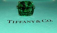 Tiffany & Co 18K YELLOW GOLD  RING Gem  green emerald 12.78ct.cushion cut.