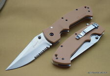 CRKT CRAWFORD KASPER TACTICAL FOLDING KNIFE TAN 5.25 INCH CLOSED HEAVY DUTY NEW!