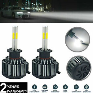 Pair H1 White LED Headlight Bulbs Kit Foglamp 4-Sides COB For Ford Focus 2012-18