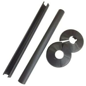 500mm Length Talon Snappit Radiator Pipe Covers & Collars - 15mm Anthracite