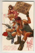 ADAM HUGHES WILL RAID TOMBS 4 FOOD 2015 SKETCHBOOK SIGNED WONDER WOMAN SDCC NY