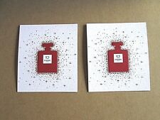 SET OF 2 CHANEL PARIS NO 5 L'EAU RED PERFUME BOTTLE HOLIDAY 2018 BLOTTER CARD