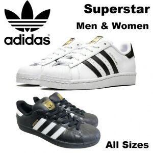 New Adidas Superstar Men and Women Sneaker Runner White & Black Unisex Casual