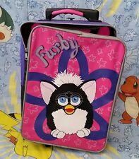 Furby 1998 Suitcase Luggage Backpack Bag Vintage Pink Purple Flower Toy RARE