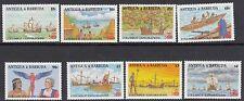 SHIPS: ANTIGUA 1988 Columbus set(1st issue) +MS(2) SG1172-9+MS1180 n.h.mint