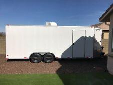 Enclosed 8.5 x 20 V-Nosed Drive-Thru Car hauler Motorcycle ATV Cargo Trailer
