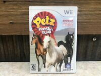 Petz: Horse Club - Nintendo Wii Wii U Game CIB - TESTED, COMPLETE, FREE SHIPPING