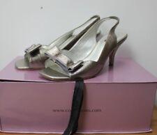 COAST Dark Silver Pewter REAL LEATHER Ladies Shoes Slingbacks size UK 5