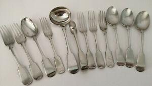 Antique Fiddle Pattern Cutlery inc. Ladle - Venetian/Yukon/Brazilian Silver etc