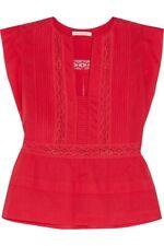 Isabel Marant Etoile Rodge Dentelle Lace Trim cotton Voile Top Size 10 US NWOT
