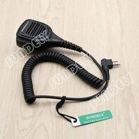 Waterproof Hand Shoulder Remote Mic Speaker Heavy Duty For Motorola Radio 2 Pin