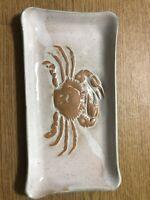 Functional  Crab Stoneware Pottery Tray , Hugh Wayne Signed