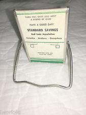 Vintage Small Desk Top Advertising Mirror Standard Savings & Loan Columbia SC