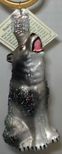 Wolf Ornament Glass Howling Wolf Old World Christmas 12163 35 22