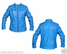 Ladies Trendy Straight Zip Fitted Sheep Skin Stylish Fashion Leather Jacket