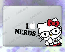 Hello Kitty Nerd Color Vinyl Sticker for Macbook Air/Pro