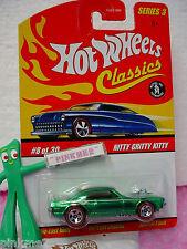 2007 Hot Wheels S3 Classics #8 NITTY GRITTY KITTY☆Green;Redline☆Series 3☆Cougar