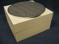 "15"" inch ROUND silver cake drum & white cake box set"