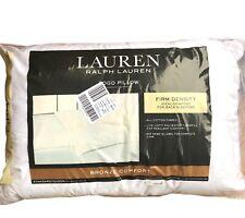 Ralph Lauren Bed Pillows Pair Queen Bronze Comfort Cotton Cover Poly Fill Firm