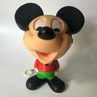 Vintage 1976 Mattel Mickey Mouse Pull String Talking Toy Walt Disney Figurine