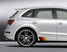 "(2x Sets) 9"" German Flag Side Skirt Front Lip Decal Kit Volkswagen Audi Porsche"
