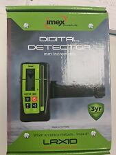 IMEX LRX10 LASER LEVEL MM RECEIVER / DETECTOR &  CLAMP - 3 YEAR WARRANTY / LS100