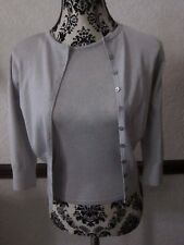 River Island Ladies Silver grey Twin Set Cardigan & Jumper Size 10