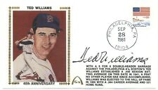 Ted Williams Signed Gateway Silk Cachet 40th Anniversary JSA Auto