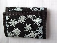PATTERNED  WALLET WITH CLIP CORD BLACK/WHITE