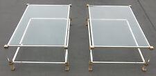 Paire de tables basses altuglass Pierre Vandel