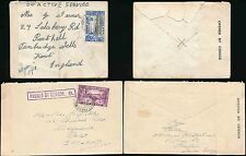Sierra LEONE 1939 + 1941 censori 7 + 9 Boxed... OAS 3D + Surface Mail 2D
