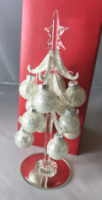 "LENOX Christmas ~ Golden Glitter Glass Tree Figurine 8.5"" ~ NEW"