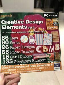 Paper craft Essentials Creative Design Element Vol2 CD ROM  Card Making Crafting