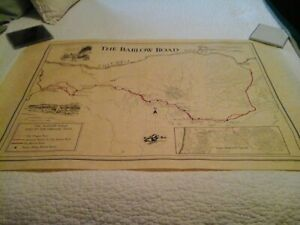 The Barlow Road The End to the Oregon Trail Map NW Cartographic Institute 1975