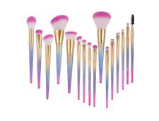 Makeup Brush Set 16 Pieces Premium Material Gradient Color Handle Makeup Brushes