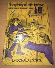 Encyclopedia Brown and the Case of the Midnight Visitor Donald J. Sobol 1977 HC