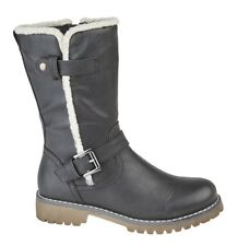 Cipriata 'Donna' Ladies Side Zip Buckle Mid Calf Boots Womens Urban Fashion Boot