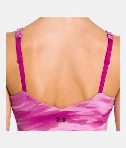 NWT Womens Studio Lux Under Armour New XS Top Bra Pink Camo Yoga Pilates Barre
