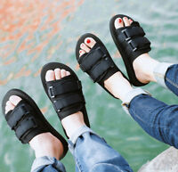 Summer Men's Womens Casual Flat Sandals Non Slip Beach Slippers Shoes Comfort