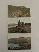 Set of Three Vintage Postcard. One with Stamp - Arrochar (93,94,95)
