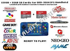 128 gb + 32 gb sd cards for GKD-350H IPS Handheld w/ Custom Firmware Installed