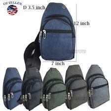 Mens Womens Sling Bag Chest Shoulder Backpack Fanny Pack Crossbody(6302)