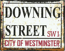 DOWNING ST LONDON STREET SIGN METAL WALL SIGN RETRO  STYLE12x16in 30x40cm shed